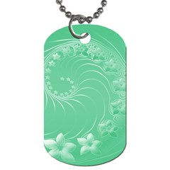 10   Light Green Flowers Dog Tag (one Sided) by BestCustomGiftsForYou