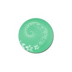 10   Light Green Flowers Golf Ball Marker 10 Pack by BestCustomGiftsForYou