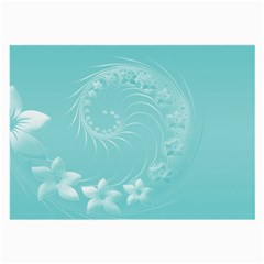 Cyan Abstract Flowers Glasses Cloth (large) by BestCustomGiftsForYou