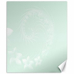 Pastel Green Abstract Flowers Canvas 20  X 24  (unframed) by BestCustomGiftsForYou