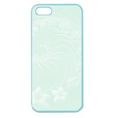 Pastel Green Abstract Flowers Apple Seamless Iphone 5 Case (color) by BestCustomGiftsForYou