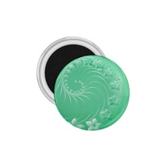 Light Green Abstract Flowers 1 75  Button Magnet by BestCustomGiftsForYou