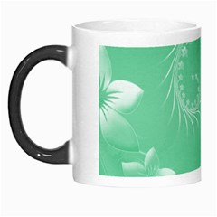 Light Green Abstract Flowers Morph Mug by BestCustomGiftsForYou