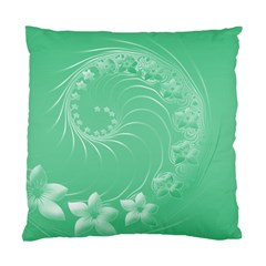 Light Green Abstract Flowers Cushion Case (two Sides) by BestCustomGiftsForYou