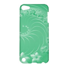 Light Green Abstract Flowers Apple Ipod Touch 5 Hardshell Case by BestCustomGiftsForYou