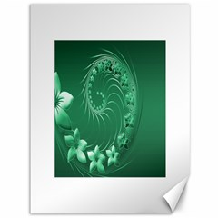 Green Abstract Flowers Canvas 36  X 48  (unframed) by BestCustomGiftsForYou