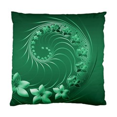 Green Abstract Flowers Cushion Case (two Sides) by BestCustomGiftsForYou