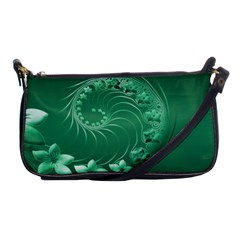 Green Abstract Flowers Evening Bag by BestCustomGiftsForYou