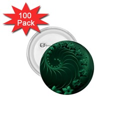 Dark Green Abstract Flowers 1 75  Button (100 Pack) by BestCustomGiftsForYou