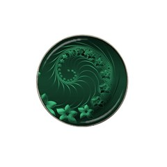 Dark Green Abstract Flowers Golf Ball Marker 10 Pack (for Hat Clip) by BestCustomGiftsForYou