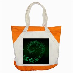 Dark Green Abstract Flowers Accent Tote Bag by BestCustomGiftsForYou