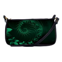 Dark Green Abstract Flowers Evening Bag by BestCustomGiftsForYou