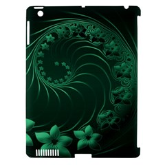 Dark Green Abstract Flowers Apple Ipad 3/4 Hardshell Case (compatible With Smart Cover) by BestCustomGiftsForYou