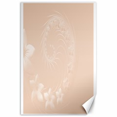 Pastel Brown Abstract Flowers Canvas 24  X 36  (unframed) by BestCustomGiftsForYou