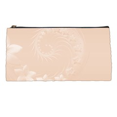Pastel Brown Abstract Flowers Pencil Case by BestCustomGiftsForYou