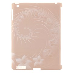 Pastel Brown Abstract Flowers Apple Ipad 3/4 Hardshell Case (compatible With Smart Cover) by BestCustomGiftsForYou