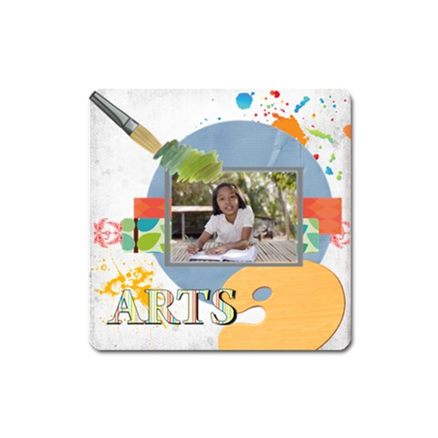 Back To School By School   Magnet (square)   Rwujeok4qea3   Www Artscow Com Front