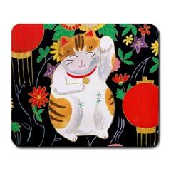 Maneki Neko Large Mouse Pad (rectangle) by TabbyCatStudios