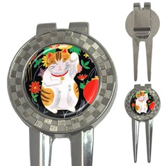 Maneki Neko Golf Pitchfork & Ball Marker by TabbyCatStudios