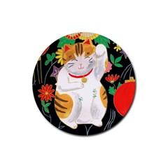 Maneki Neko Drink Coaster (round) by TabbyCatStudios