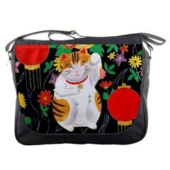 Maneki Neko Messenger Bag by TabbyCatStudios