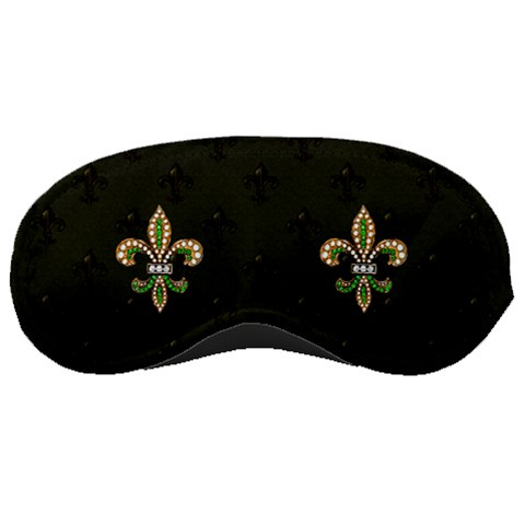 Fleur De Lys Sleep Mask By Rd   Sleeping Mask   M2aahnva7mow   Www Artscow Com Front