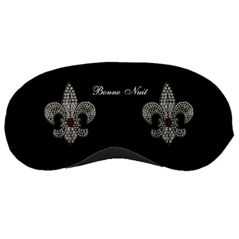 Fleur De Lys Sleep Mask By Rd   Sleeping Mask   66ka0rnwwk8r   Www Artscow Com Front