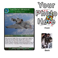 Starship Troopers Prepare For Battle Deck By Michael   Playing Cards 54 Designs   Z252jm23jd2m   Www Artscow Com Front - Heart7