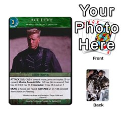 Ace Starship Troopers Prepare For Battle Deck By Michael   Playing Cards 54 Designs   Z252jm23jd2m   Www Artscow Com Front - DiamondA