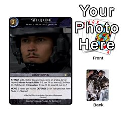 Starship Troopers Prepare For Battle Deck By Michael   Playing Cards 54 Designs   Z252jm23jd2m   Www Artscow Com Front - Club8