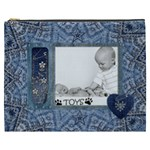Denim Love XXXL Cosmetic Bag - Cosmetic Bag (XXXL)