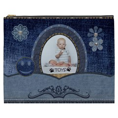 Denim Designs Xxxl Cosmetic Bag By Lil    Cosmetic Bag (xxxl)   7ciawq0u9bpt   Www Artscow Com Front
