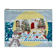 Merry Christmas By Merry Christmas   Cosmetic Bag (xl)   D0y475m1cylq   Www Artscow Com Front