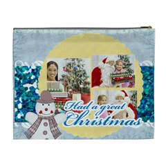 Merry Christmas By Merry Christmas   Cosmetic Bag (xl)   D0y475m1cylq   Www Artscow Com Back