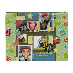 Merry Christmas By Merry Christmas   Cosmetic Bag (xl)   Xkuiejchsr3r   Www Artscow Com Back