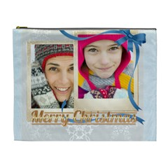Merry Christmas By Merry Christmas   Cosmetic Bag (xl)   P2g8dmjnb7ha   Www Artscow Com Front