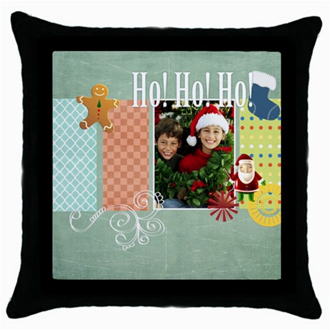Merry Christmas By Merry Christmas   Throw Pillow Case (black)   Esob7odvnagp   Www Artscow Com Front