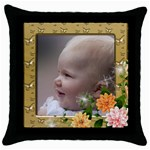 Pretty as a Picture throw pillow - Throw Pillow Case (Black)