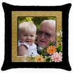 My love as a Picture throw pillow - Throw Pillow Case (Black)