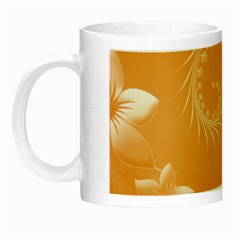 Orange Abstract Flowers Glow In The Dark Mug by BestCustomGiftsForYou