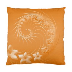 Orange Abstract Flowers Cushion Case (two Sides) by BestCustomGiftsForYou