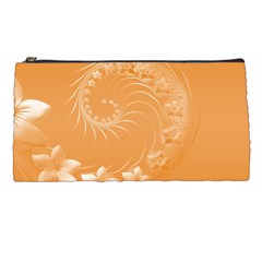 Orange Abstract Flowers Pencil Case by BestCustomGiftsForYou