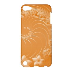 Orange Abstract Flowers Apple Ipod Touch 5 Hardshell Case by BestCustomGiftsForYou