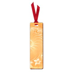 Orange Abstract Flowers Small Bookmark by BestCustomGiftsForYou