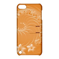 Orange Abstract Flowers Apple Ipod Touch 5 Hardshell Case With Stand by BestCustomGiftsForYou