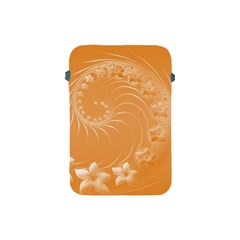 Orange Abstract Flowers Apple Ipad Mini Protective Soft Case by BestCustomGiftsForYou