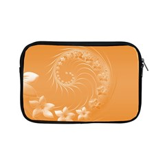 Orange Abstract Flowers Apple Ipad Mini Zipper Case by BestCustomGiftsForYou