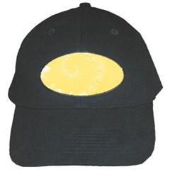 Yellow Abstract Flowers Black Baseball Cap by BestCustomGiftsForYou