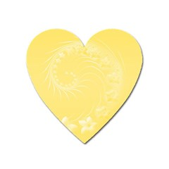 Yellow Abstract Flowers Magnet (heart) by BestCustomGiftsForYou