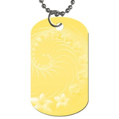 Yellow Abstract Flowers Dog Tag (two Sided)